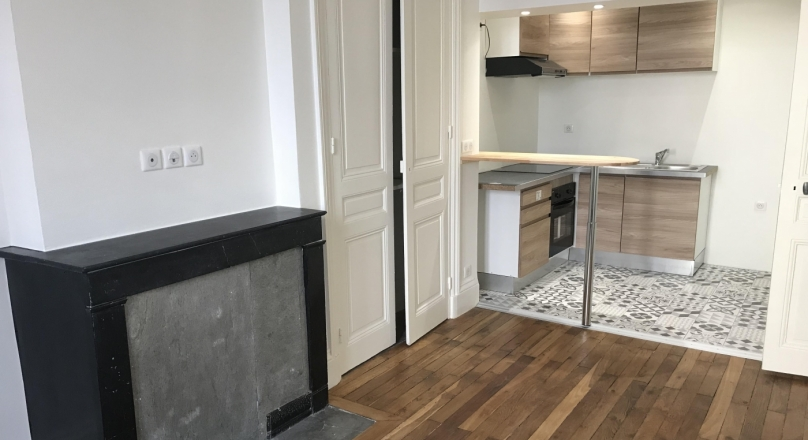 Loué - Lyon 7 - T2 rénové de 37 m²