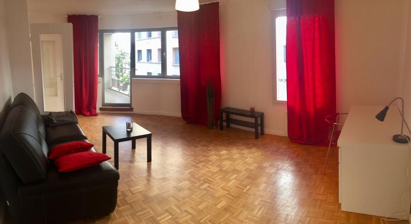 Lyon 03 - T2 meublé de 52 m² avec Terrasse et parking